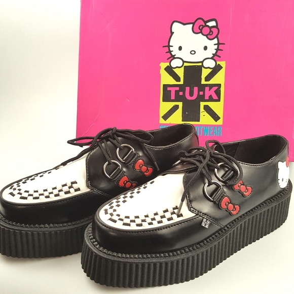 e9e0bd7c6 Hello Kitty Shoes | Tuk Mondo Vegan Creepers Platform | Poshmark